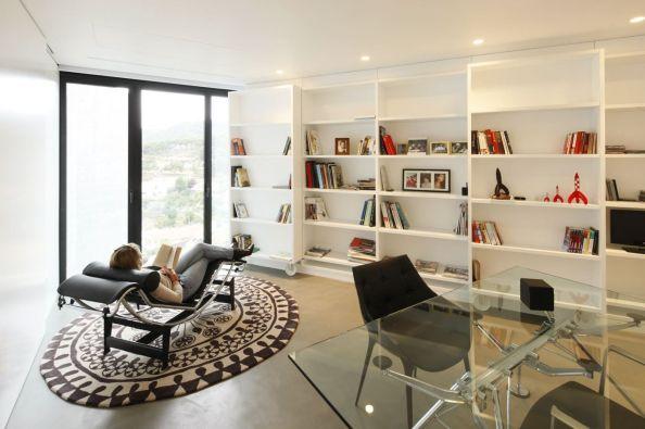 interior modern, amenajare biblioteca,