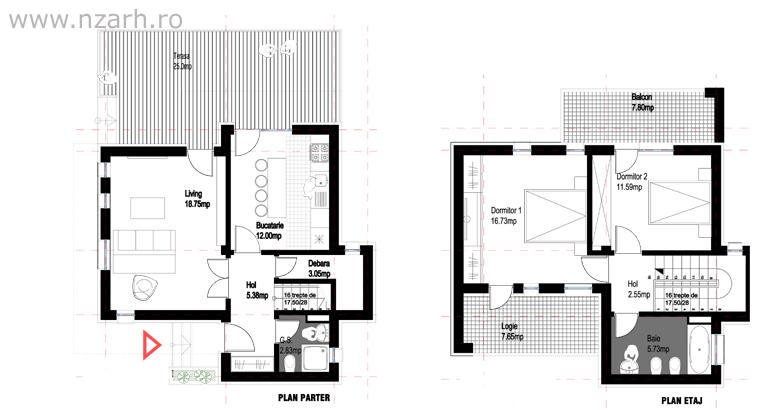 proiectul - Casa Cub Moderne