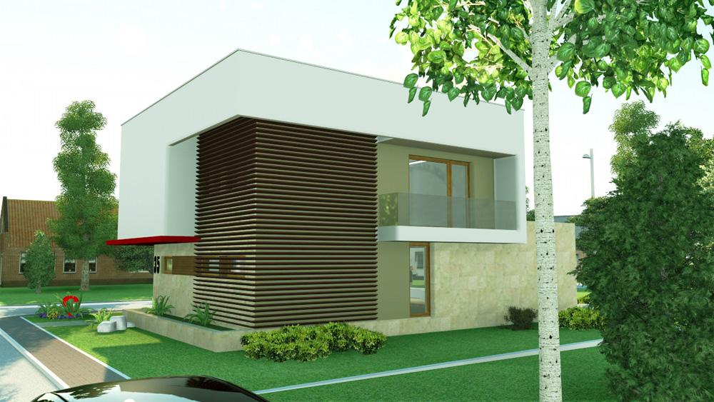 Proiect casa moderna proiect casa 21 arhipura for Case minimaliste moderne