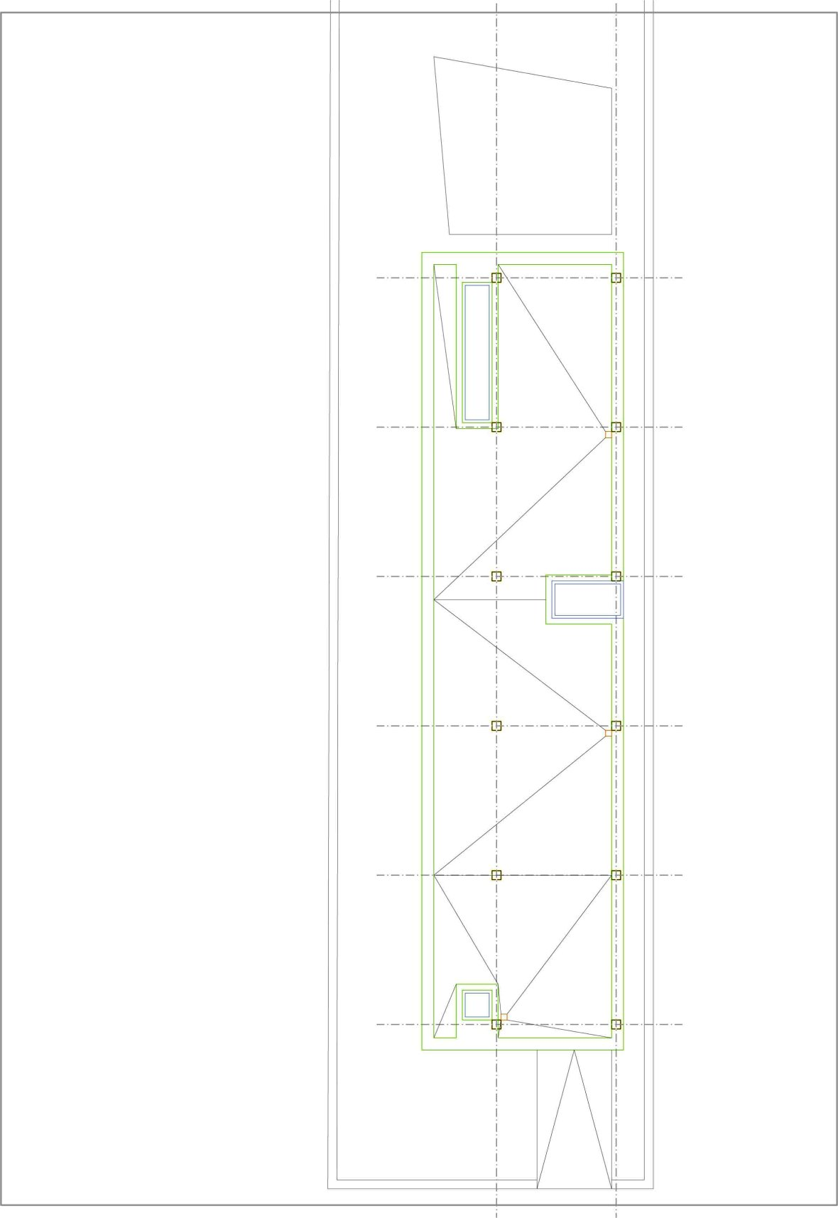 plan acoperis casa pe teren ingust