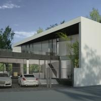 Locuinta pe teren triunghiular | proiect casa moderna 29