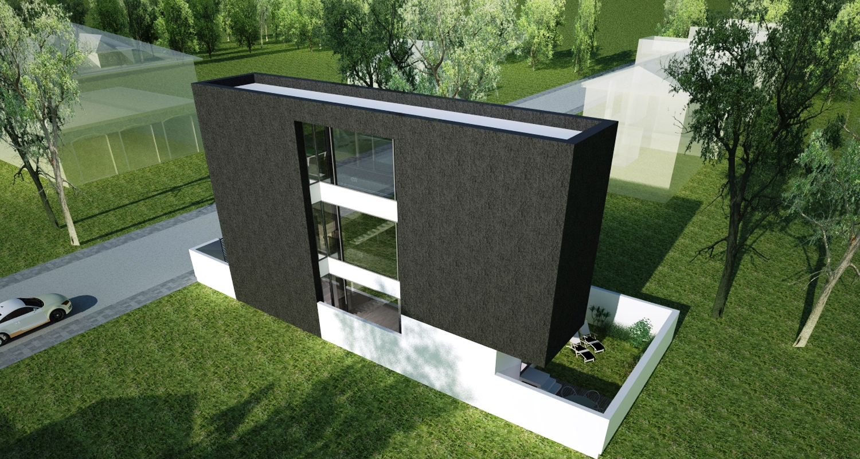 Locuinta moderna pe teren ingust proiect casa moderna 31 for Imagini case moderne