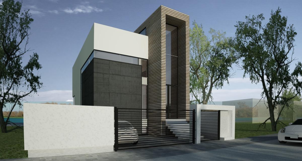 Proiect casa moderna pe teren ingust | Galati