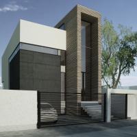 Casa moderna pe teren ingust | proiect casa moderna 35