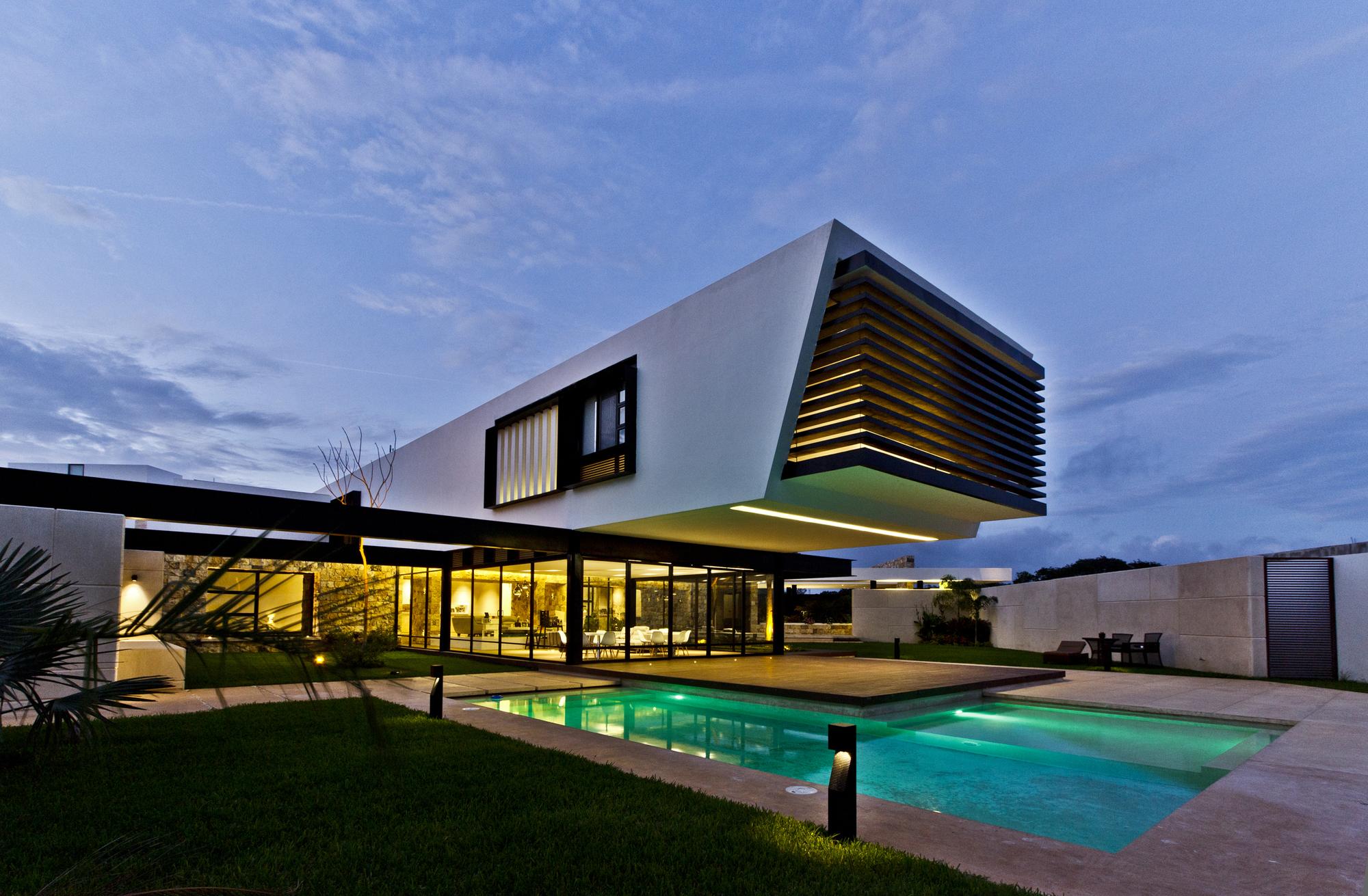 Resedinta moderna temazon mexic arhipura - Iluminacion led para casa ...