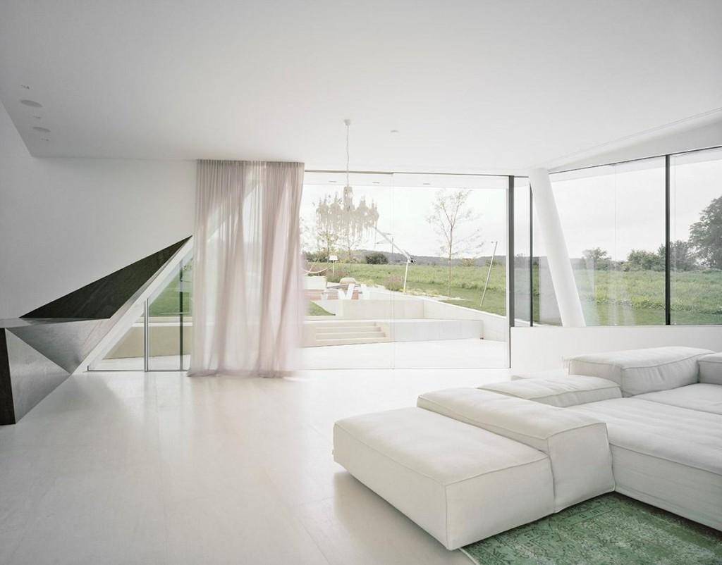 Freundorf residence rafinament alb arhipura for Casa moderna living