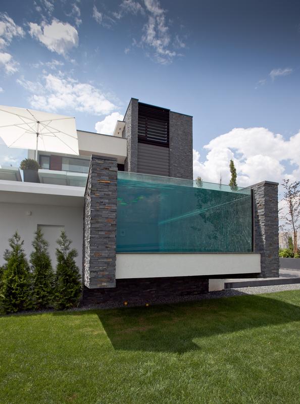 Locuinta moderna cu piscina cartierul rezidential brates for Case moderne con piscina