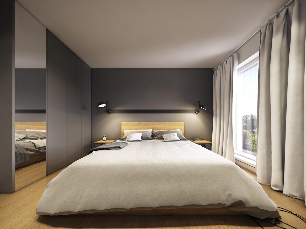 minimalistic-gray-and-wood-bedroom