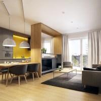 Apartament amenajat modern cu influente scandinave