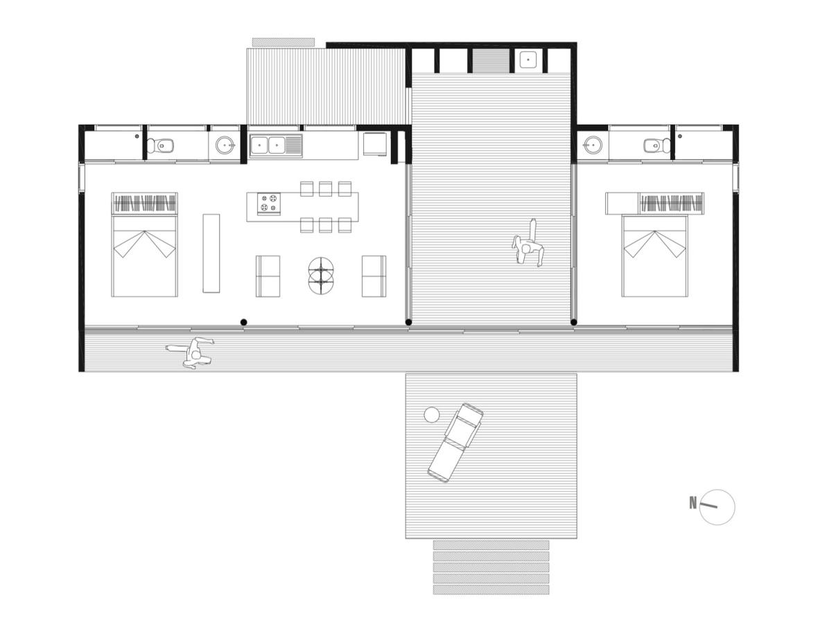 casa B6 chile_arhipura_plan parter