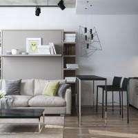 Solutii multifunctionale in amenajarea unui apartament de 29 mp