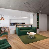 Apartament minimalist cu accente de verde in Kiev