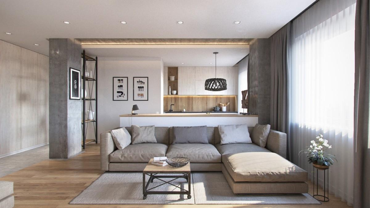 Interior linistit cu elemente inspirate din natura