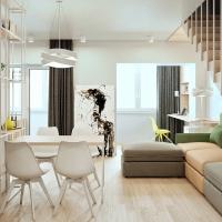 Amenajarea unui apartament luminos cu trei camere