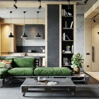 Doua cerinte pentru o amenajare creativa : beton si lemn