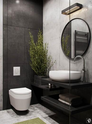 black-and-concrete-bath