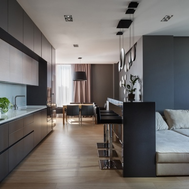 dark-charcoal-walls-in-modern-apartment