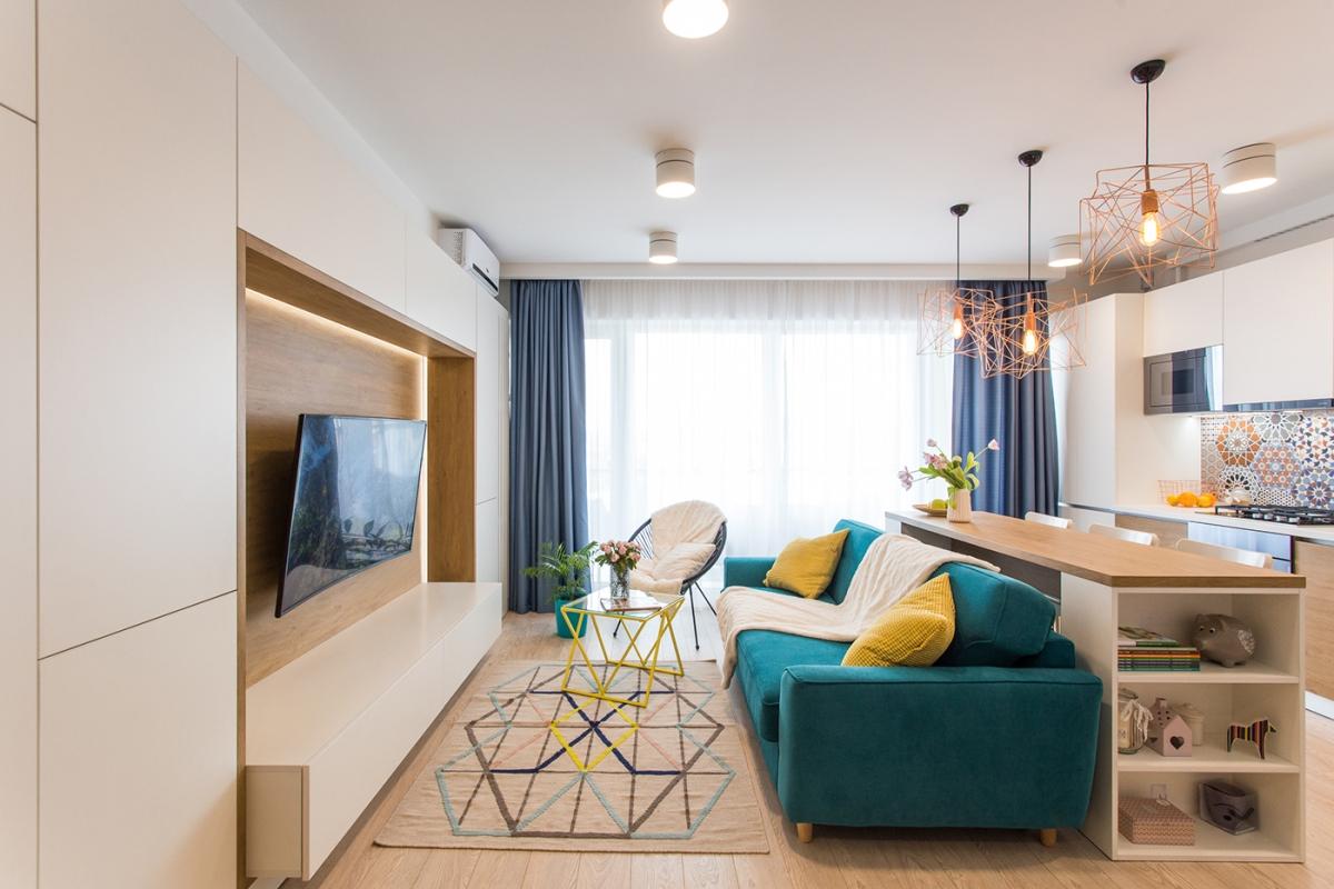 Apartament luminos de 64mp pentru un cuplu tanar
