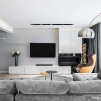 Amenajare duplex modern cu accente naturale