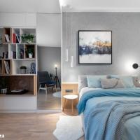 Apartament amenajat cu accente de albastru si turcoaz